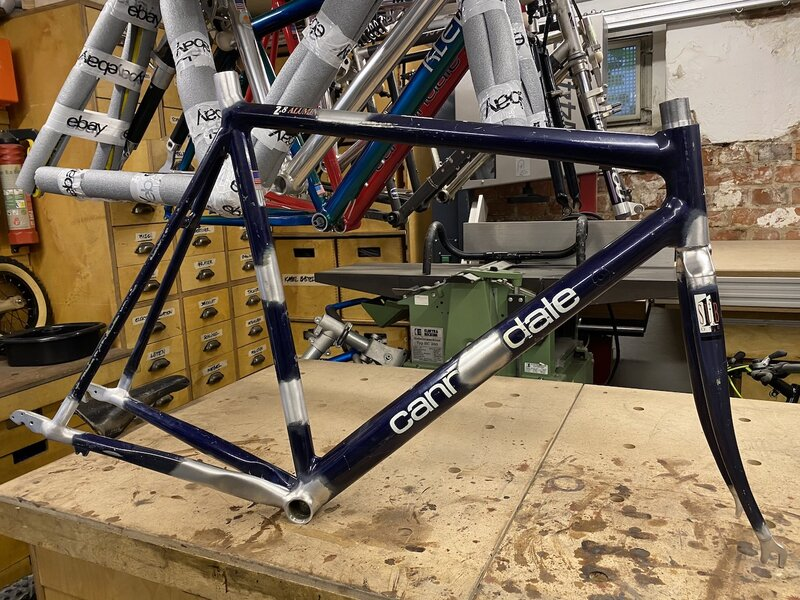 1993 Cannondale R800 road bike track bike hommage restoration project image picture example b...jpeg