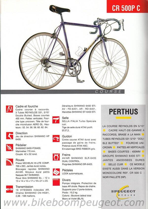 Peugeot 1992 France Course Brochure CR500PC.jpg