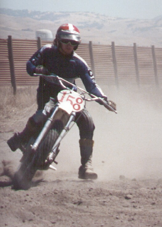 KB racing motocross on his CZ 1976